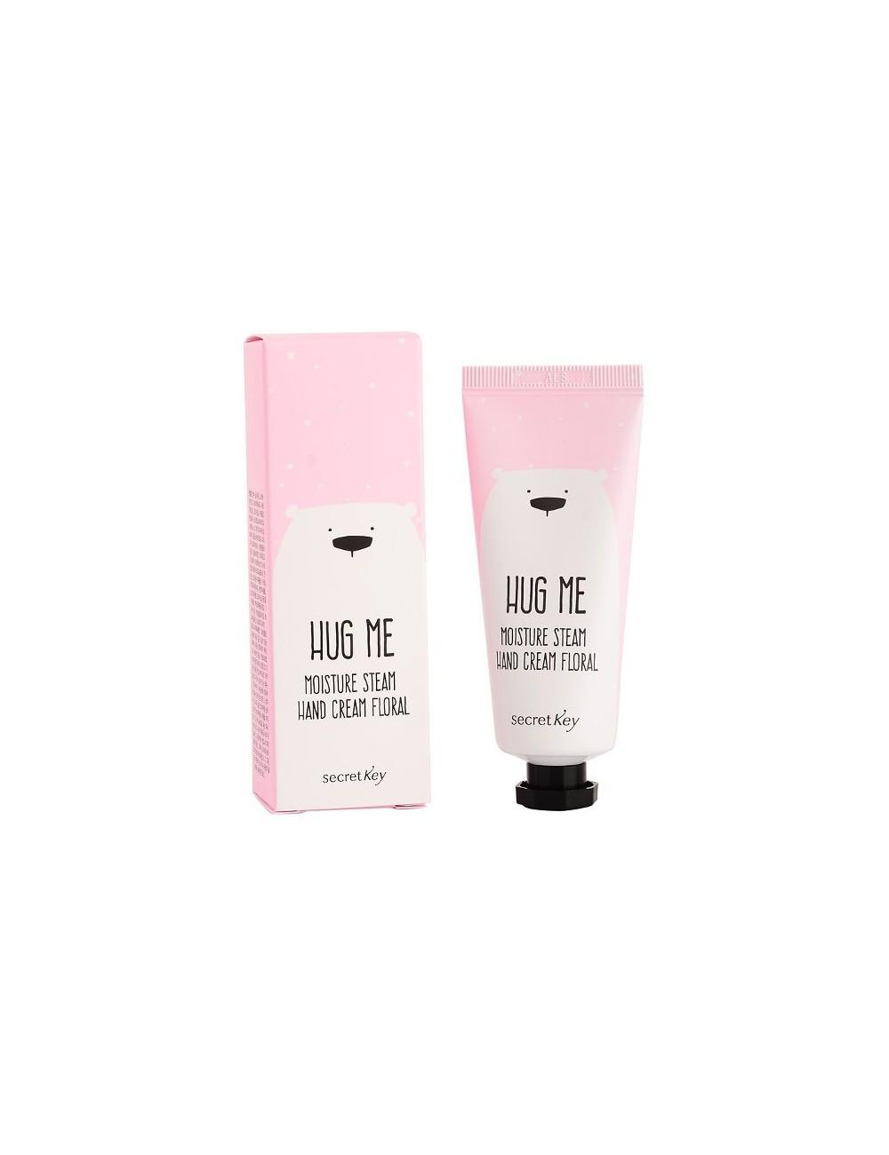 Crema Hidratante para Manos Secret Key Hug Me Moisture Steam Hand Cream Floral