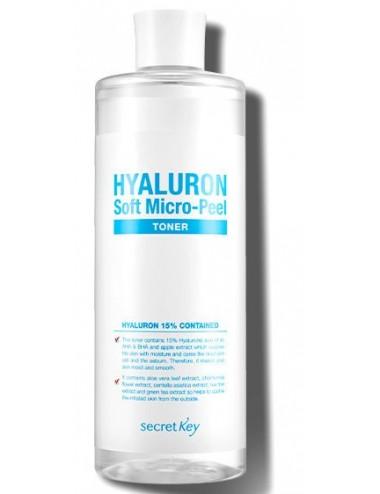 Tónico Hidratante y Exfoliante Secret Key Hyaluron Soft Micro-Peel Toner