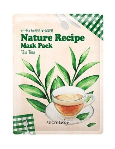 Mascarilla Calmante Secret Key Nature Recipe Mask Tea Tree