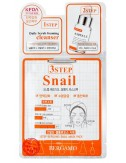 Mascarilla 3 pasos Antiarrugas y Reafirmante Bergamo 3 Step Snail Mask Pack