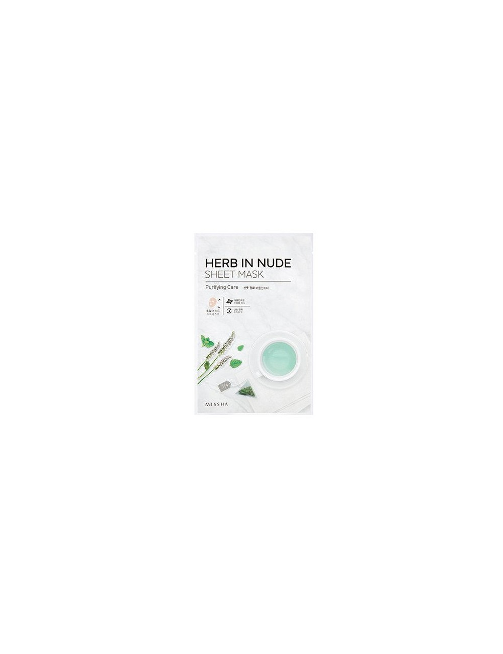 Mascarilla Purificante Herb In Nude Sheet Mask (Purifying Care)
