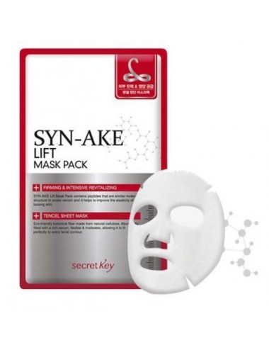 Mascarilla Reafirmante y Revitalizante Secret Key Syn-Ake Lift Mask Pack