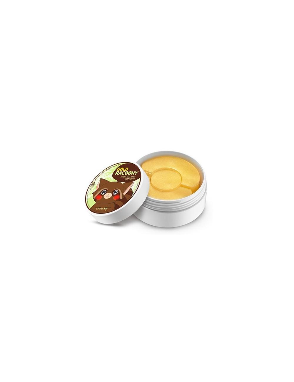 Parches para Contorno de Ojos y Granitos Secret Key Gold Racoony Hydrogel Eye & Spot Patch