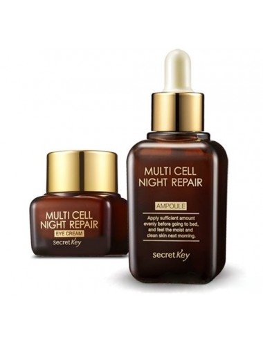 Pack Antiedad Contorno de Ojos y Serum Secret Key Multi Cell Night Repair