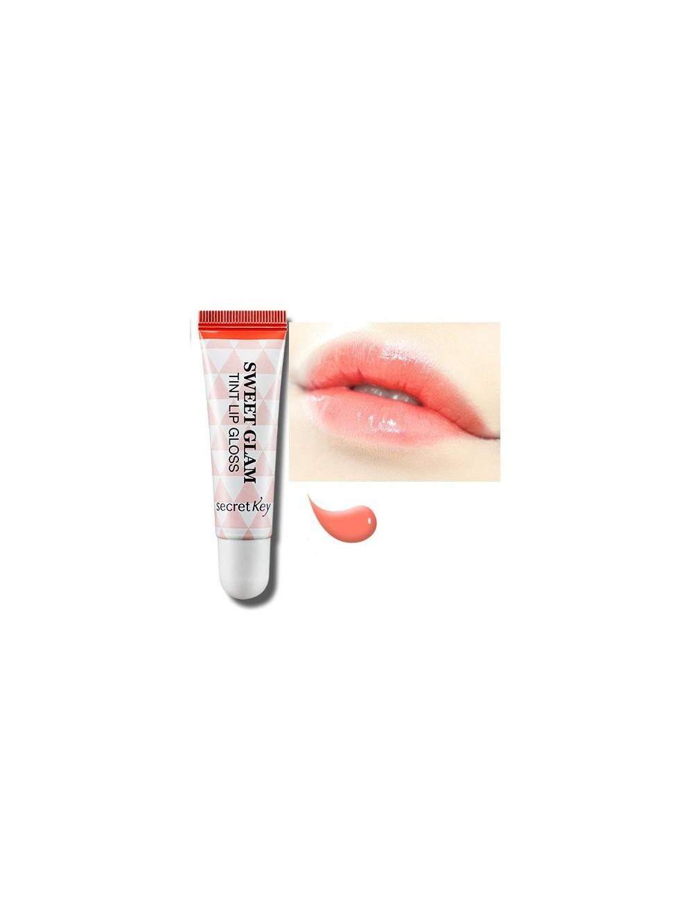 Gloss Hidratante para Labios Secret Key Sweet Glam Lip Tint Gloss Coral Peach