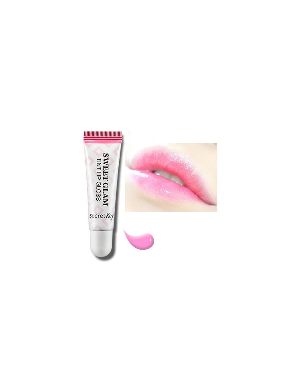 Gloss Hidratante para Labios Secret Key Sweet Glam Lip Tint Gloss Milky Pink
