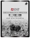 Mascarilla Purificante SNP Charcoal Mineral Black Ampoule Mask