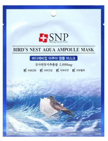Mascarilla Revitalizante y Calmante SNP Bird's Nest Aqua Ampoule Mask