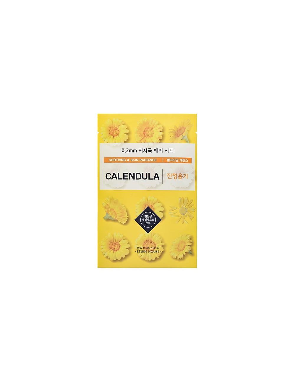 Mascarilla Calmante e Iluminadora Etude House 0.2 Therapy Air Mask Calendula