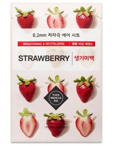 Mascarilla Iluminadora y Antimanchas Etude House 0.2 Therapy Air Mask Strawberry