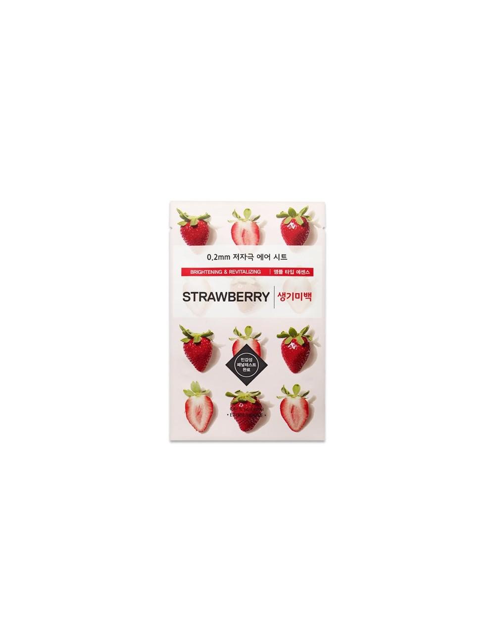 Mascarilla Iluminadora y Antimanchas Etude House 0.2 Therapy Air Mask Strawberry