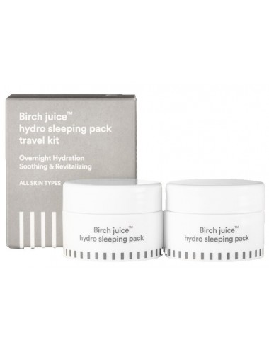 Mascarilla Nocturna E NATURE Birch Juice Hydro Sleeping Pack Travel Kit (2 piezas)