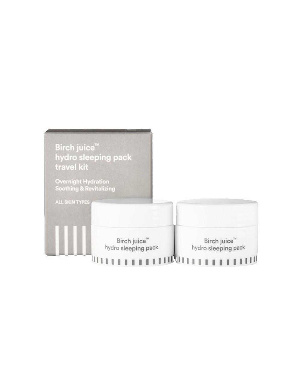 Mascarilla Nocturna E NATURE Birch Juice Hydro Sleeping Pack Travel Kit (2 piezas)