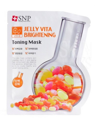 Mascarilla Iluminadora SNP Jelly Vita  Brightening Toning Mask