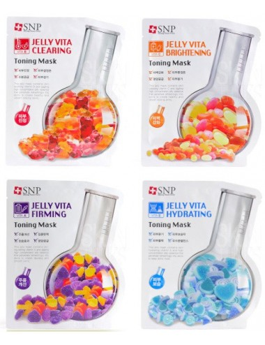 Pack 4 SNP Jelly Vita Toning Mask