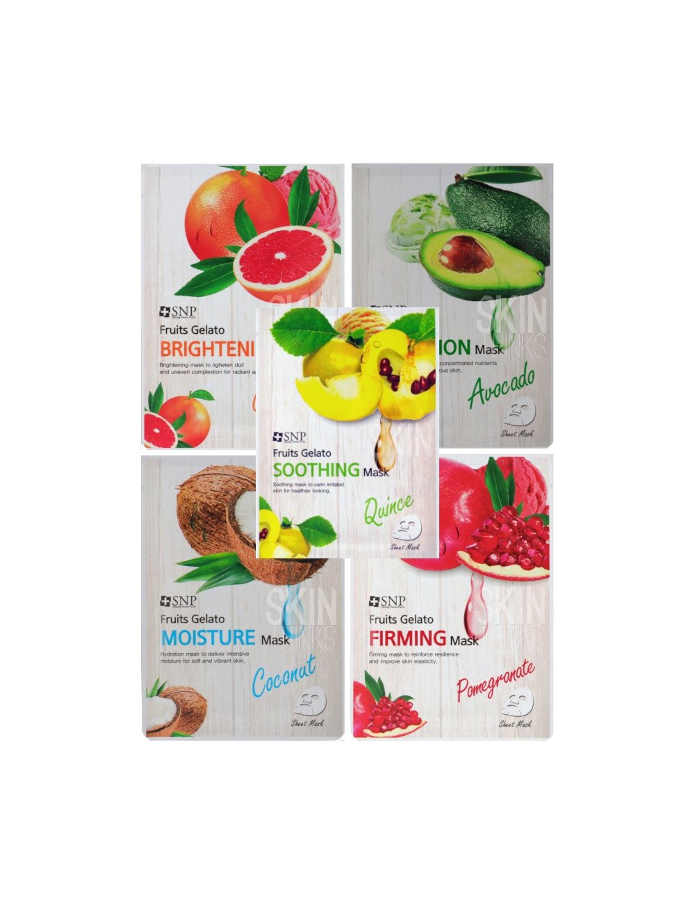 Pack SNP Fruits Gelato Mask