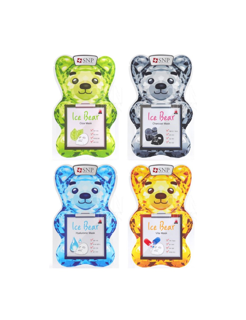 Pack 4 SNP Ice Bear Mask