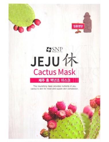 Mascarilla Nutritiva SNP Jeju Rest Cactus Mask