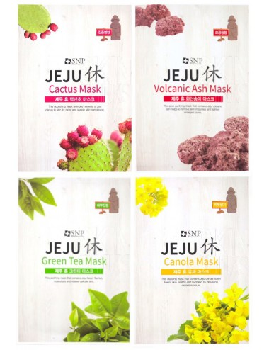 Pack 4 SNP  Jeju Rest Mask