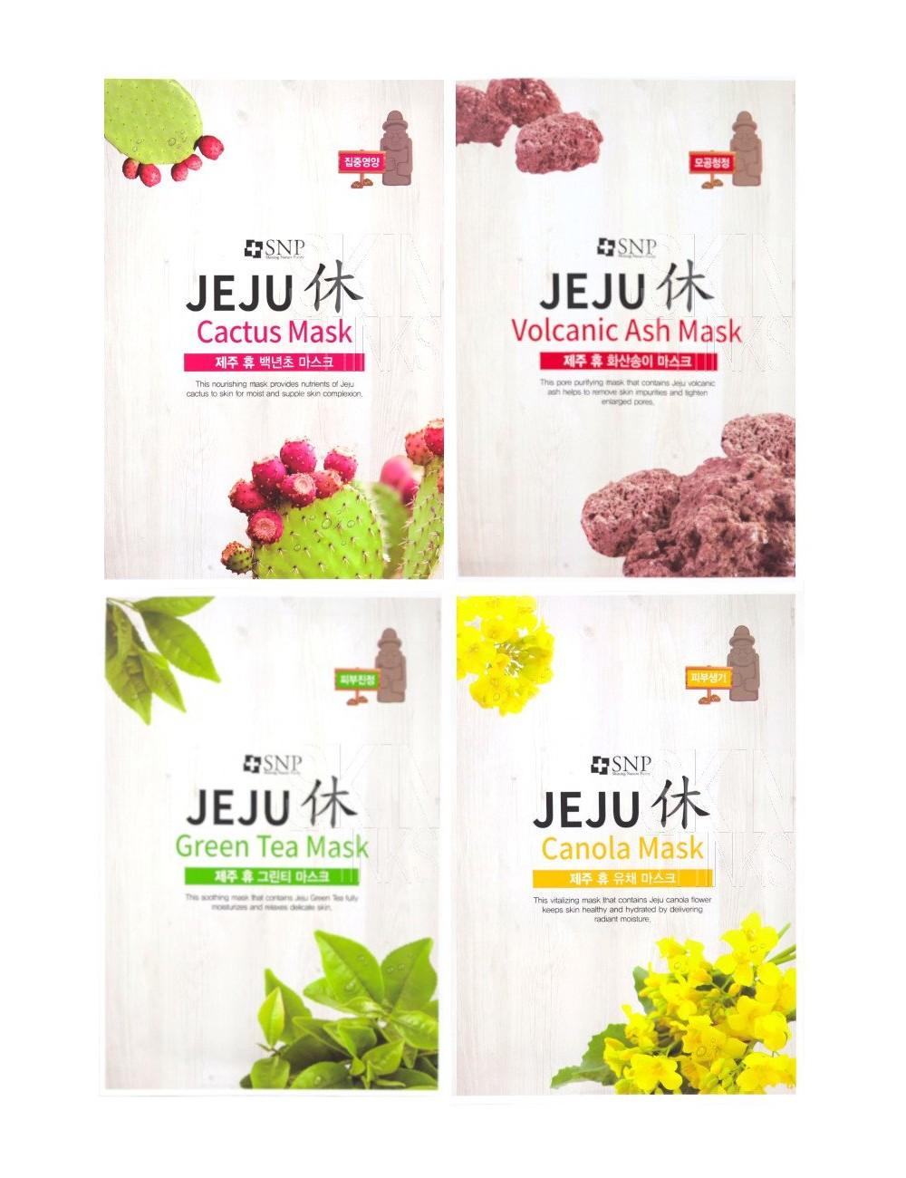 Pack 4 SNP  Jeju Rest Mask