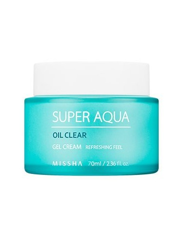 Crema Hidratante para piel grasa MISSHA Super Aqua Oil Clear Gel Cream 70ml