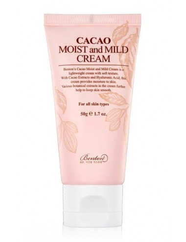 Crema Facial ligera hidratante Benton Cacao Moist and Mild Cream