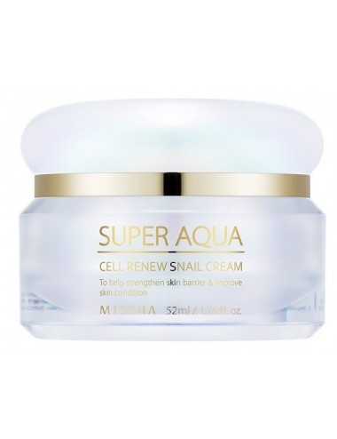 Crema Reafirmante con Extracto de Caracol. Missha Super Aqua Cell Renew Snail Cream 47ml