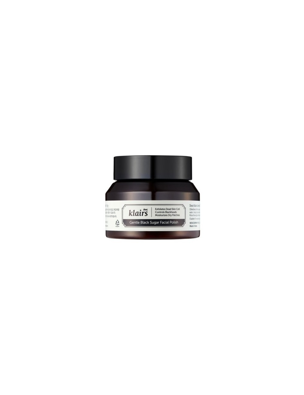 Exfoliante Vegano Klairs Gentle Black Sugar Facial Polish