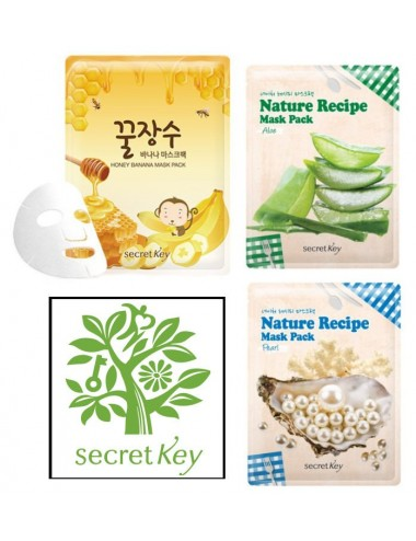 Pack de 3 Mascarillas Secret Key Nature Recipe Mask Pack