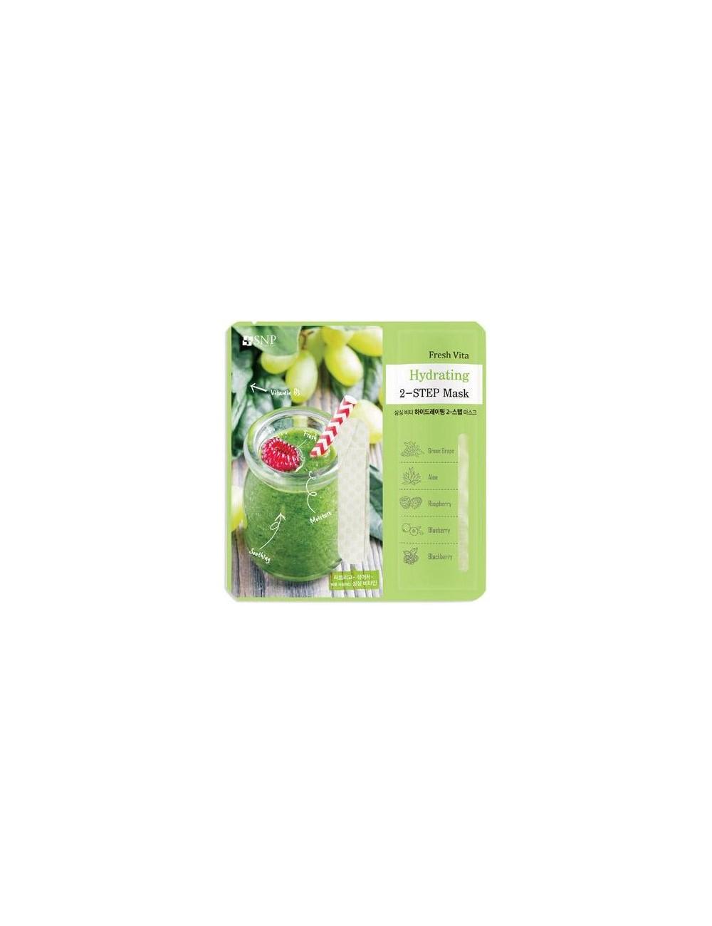 Mascarilla Hidratante y Calmante SNP Fresh Vita Hidrating 2-Step Mask