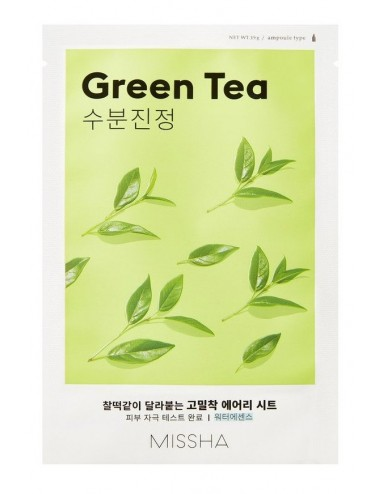 Mascarilla Hidratante MISSHA Airy Fit Sheet Mask (Green Tea)