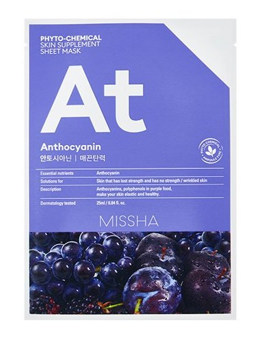 Mascarilla Lifting MISSHA Phyto-Chemical Skin Suplement Sheet Mask Anthocyanin