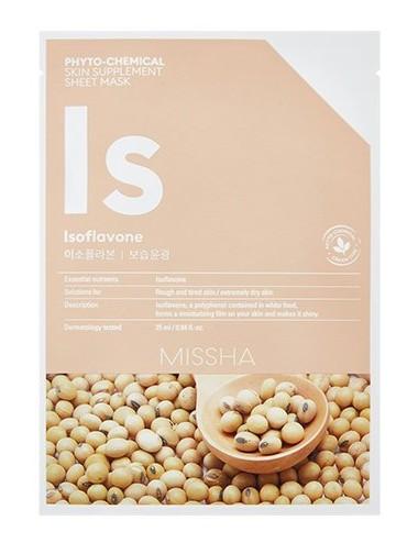 Mascarilla Alta Hidratación MISSHA Phyto-Chemical Skin Suplement Sheet Mask Isoflavone