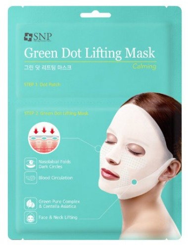 Mascarilla Lifting Calmante  SNP Green Dot Lifting Mask