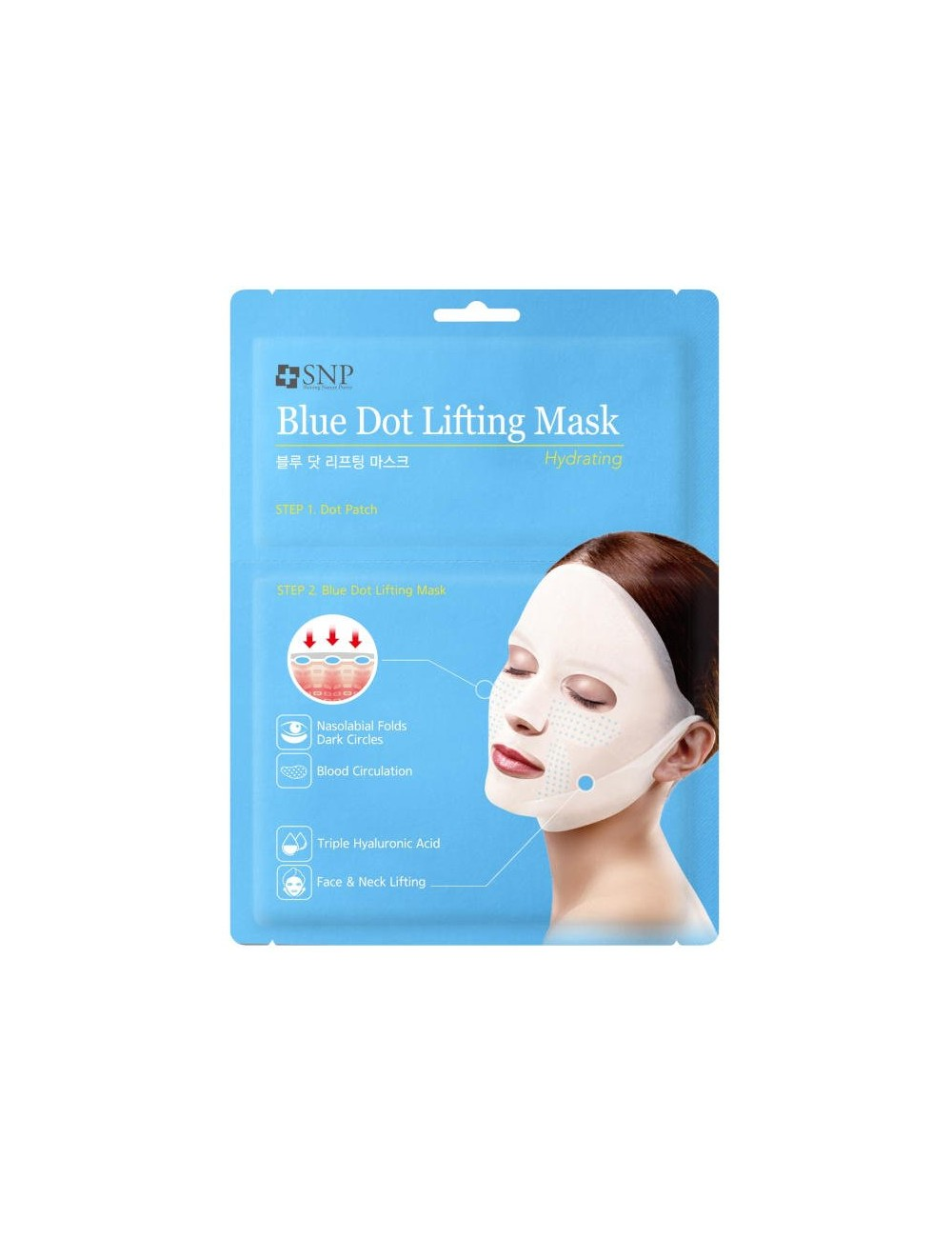 Mascarilla Lifting Hidratante  SNP Blue Dot Lifting Mask