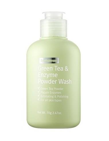 Espuma Limpiadora Exfoliante By Wishtrend Green Tea & Enzyme Powder Wash