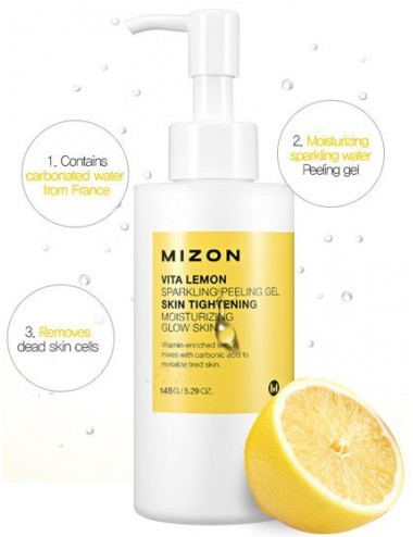 Exfoliante Facial Mizon Vita Lemon Sparkling Peeling Gel