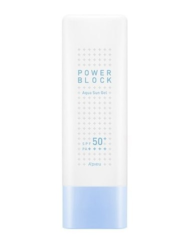 Crema Solar en Gel  A'pieu Power Block Aqua Sun Gel SPF 50+ PA++++