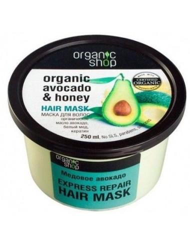 Mascarilla Capilar Reparación Rápida  Organic Shop Aguacate Orgánico y Miel