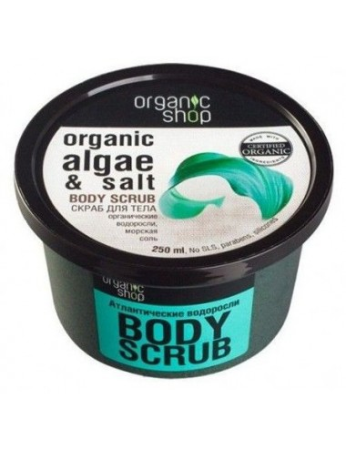 Exfoliante Corporal Tonificante Organic Shop Algas Orgánicas y Sal Marina