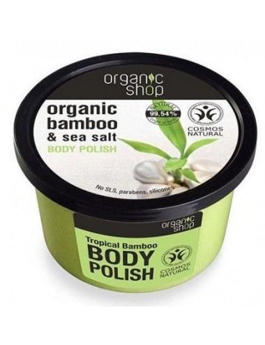 Exfoliante Corporal Tonificante Organic Shop Bambú Orgánico y Sal Marina