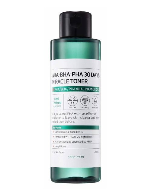 Tónico Exfoliante Some By Mi AHA BHA PHA 30 Days Miracle Toner