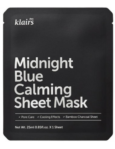 Mascarilla Calmante Klairs Midnight Blue Calming Sheet Mask