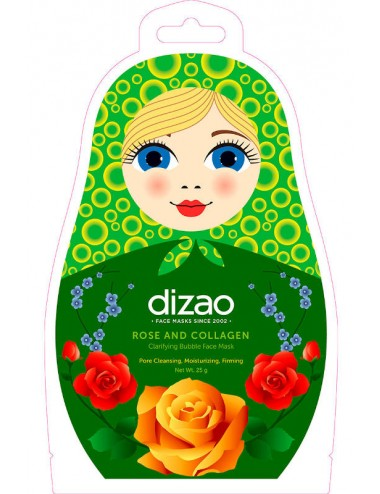 Mascarilla de Burbujas Dizao Rose and Collagen Mask