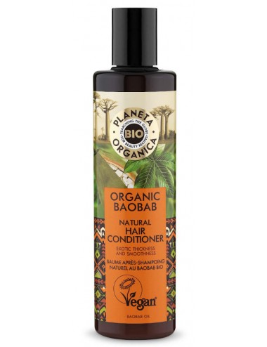Acondicionador Organic Baobab Natural Hair Conditioner Reparación y Fuerza