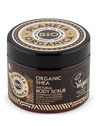 Organic Shea Natural Body Scrub Exfoliante Corporal Natural con Karité