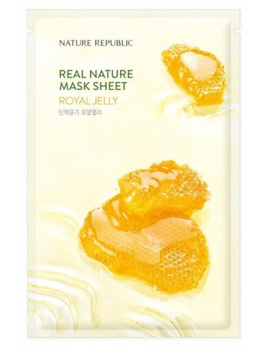 Real Nature Mask Sheet Royal Jelly - Hidratante y Antiedad