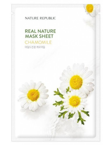 Real Nature Mask Sheet Chamomile - Calmante e Hidratante