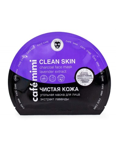 Clean Skin Charcoal Face Sheet Mask Mascarilla Purificante y Calmante