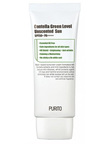 Crema Solar Purito Centella Green Level Unscented Sun SPF50 + PA++++